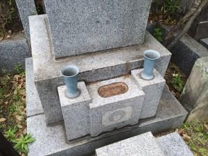 水鉢 花立て交換